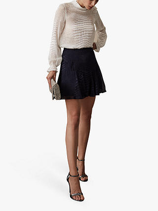 Buy Reiss Francis Lucy Burnout Snake Pattern Skirt, Navy, 12 Online at johnlewis.com