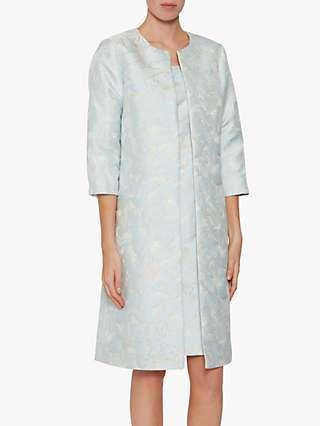 Gina Bacconi Lorie Jacquard Coat, Blue