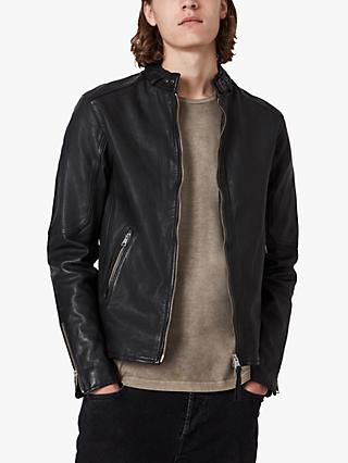 AllSaints Cora Leather Jacket, Jet Black