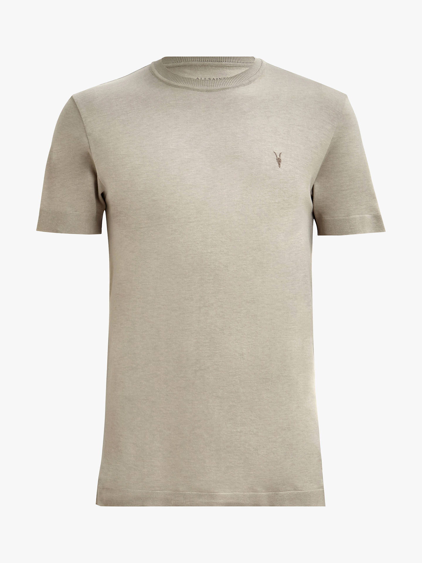 Buy AllSaints Parlour Crew Neck T-Shirt, Mine Grey, S Online at johnlewis.com