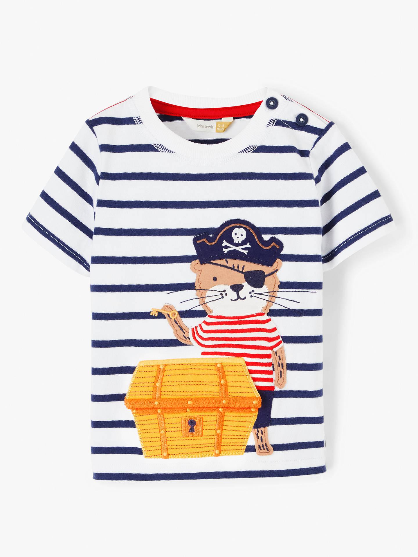94ee57eee857 John Lewis   Partners Baby Easter Treasure Otter Stripe T-Shirt ...