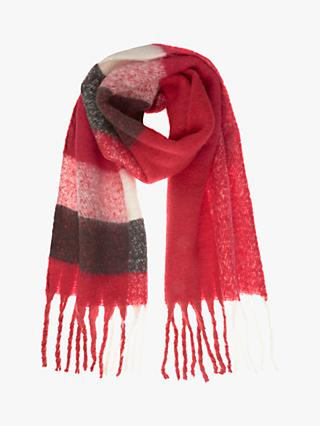 Mint Velvet Felted Scarf, Red