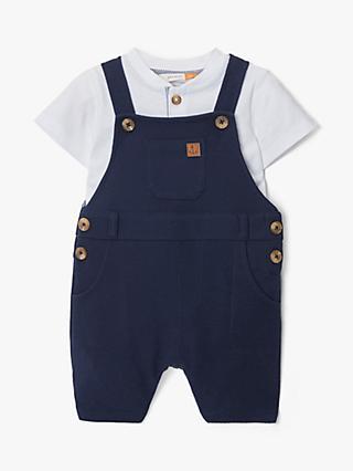 4b628f04d70 John Lewis   Partners Baby Textured Dungaree and T-Shirt Set
