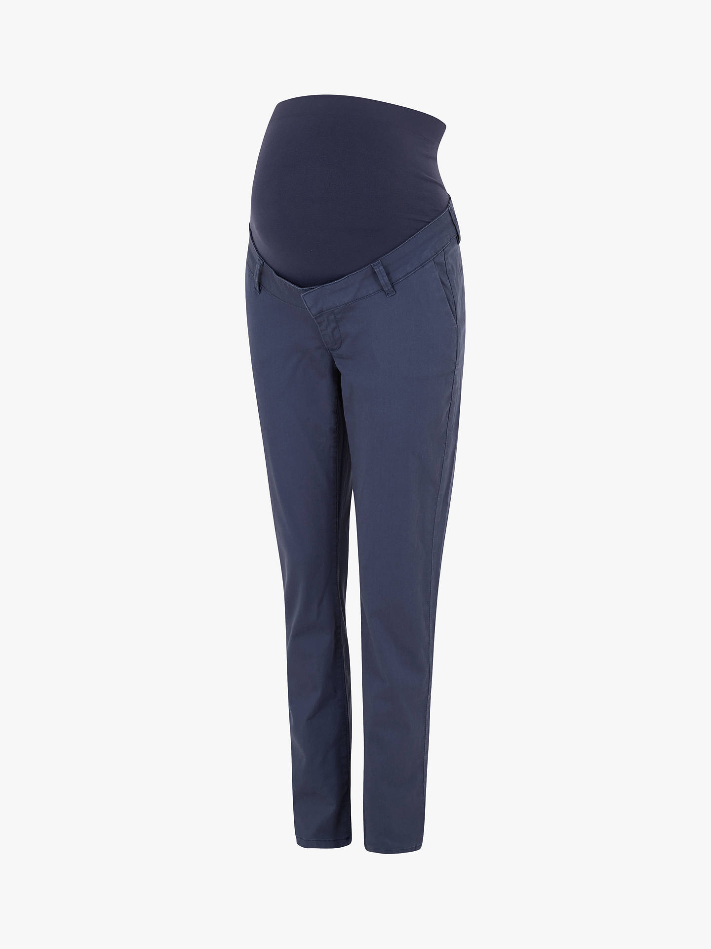 Buy Seraphine Olga Over Bump Chino Trousers, Navy, 8 Online at johnlewis.com