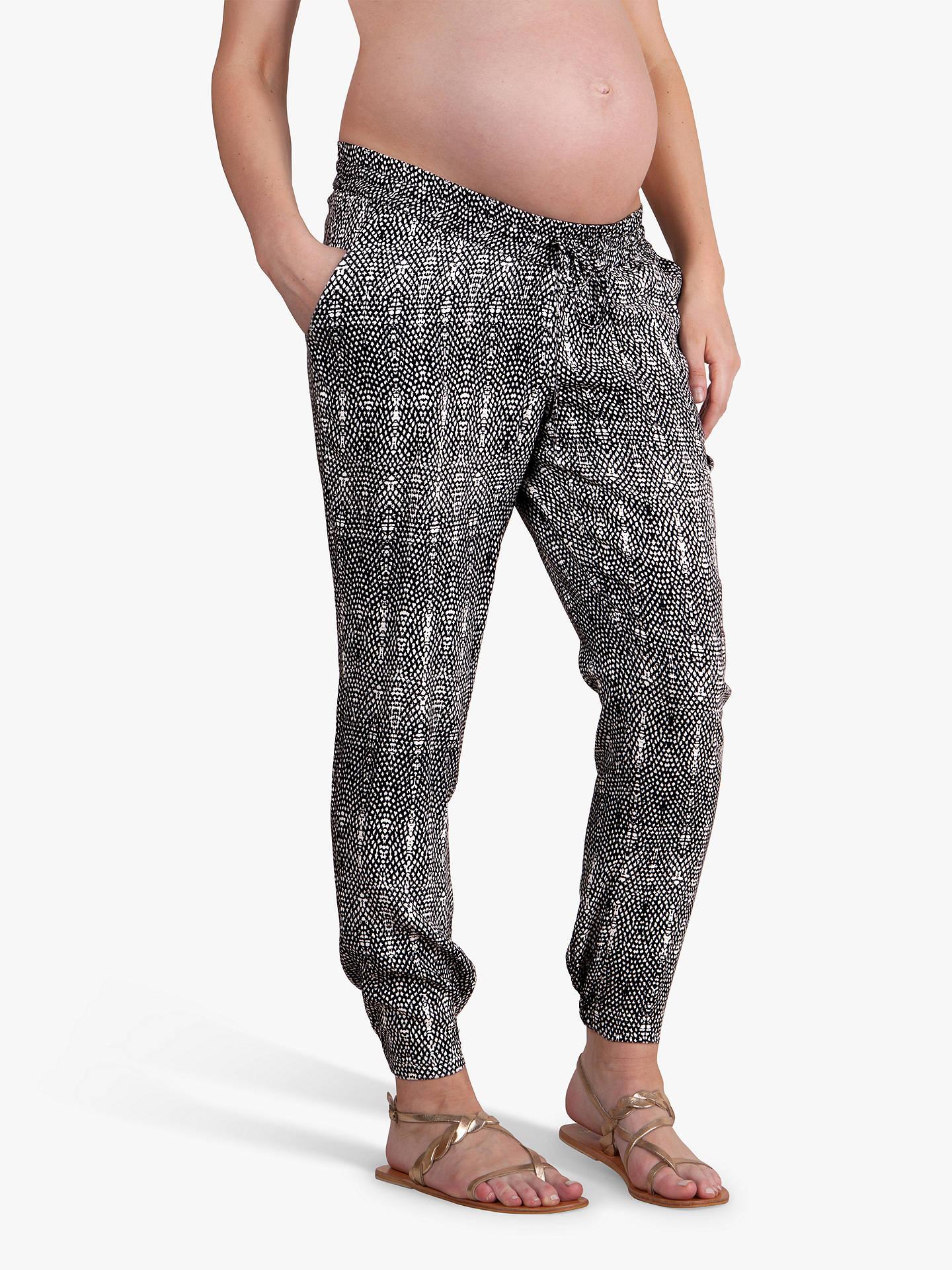 bc55809cec8 Séraphine Abel Maternity Trousers, Black/White