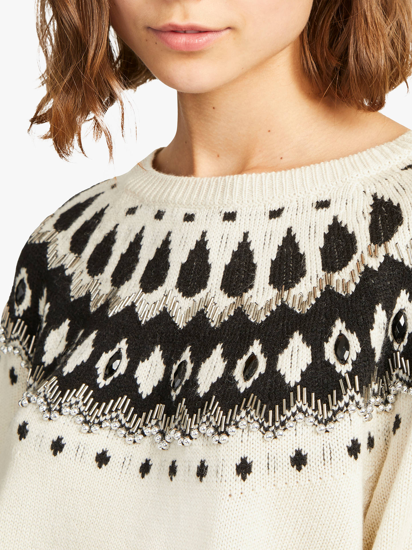2d78a5bd2cc Buy French Connection Vera Fair Isle Embellished Jumper