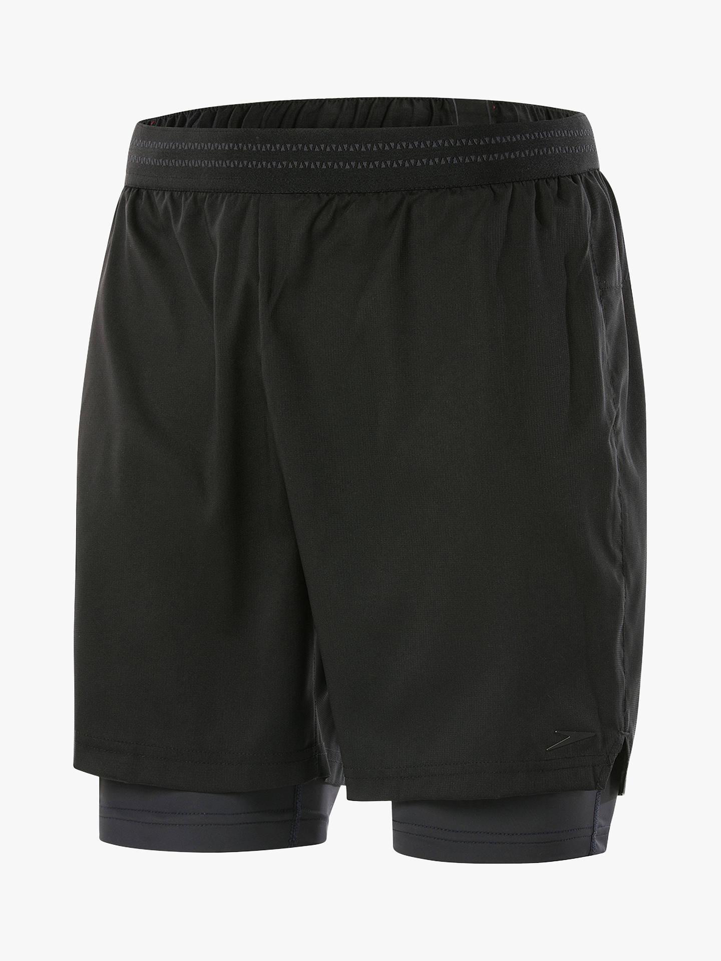410ff64589 Buy Speedo ReflectWave Flex 2-in-1 Swim Shorts, Black, M Online ...