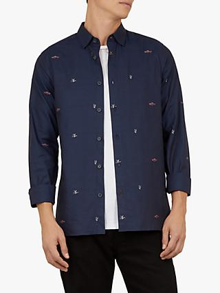 Ted Baker Merkana Americana Coupe Shirt, Navy Blue