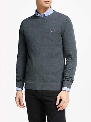 GANT Cotton Pique Crew Neck Jumper