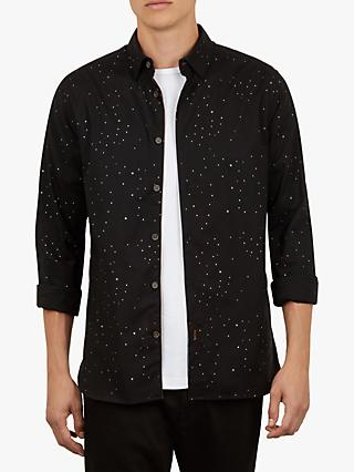 Ted Baker Nooley Star Print Shirt, Black