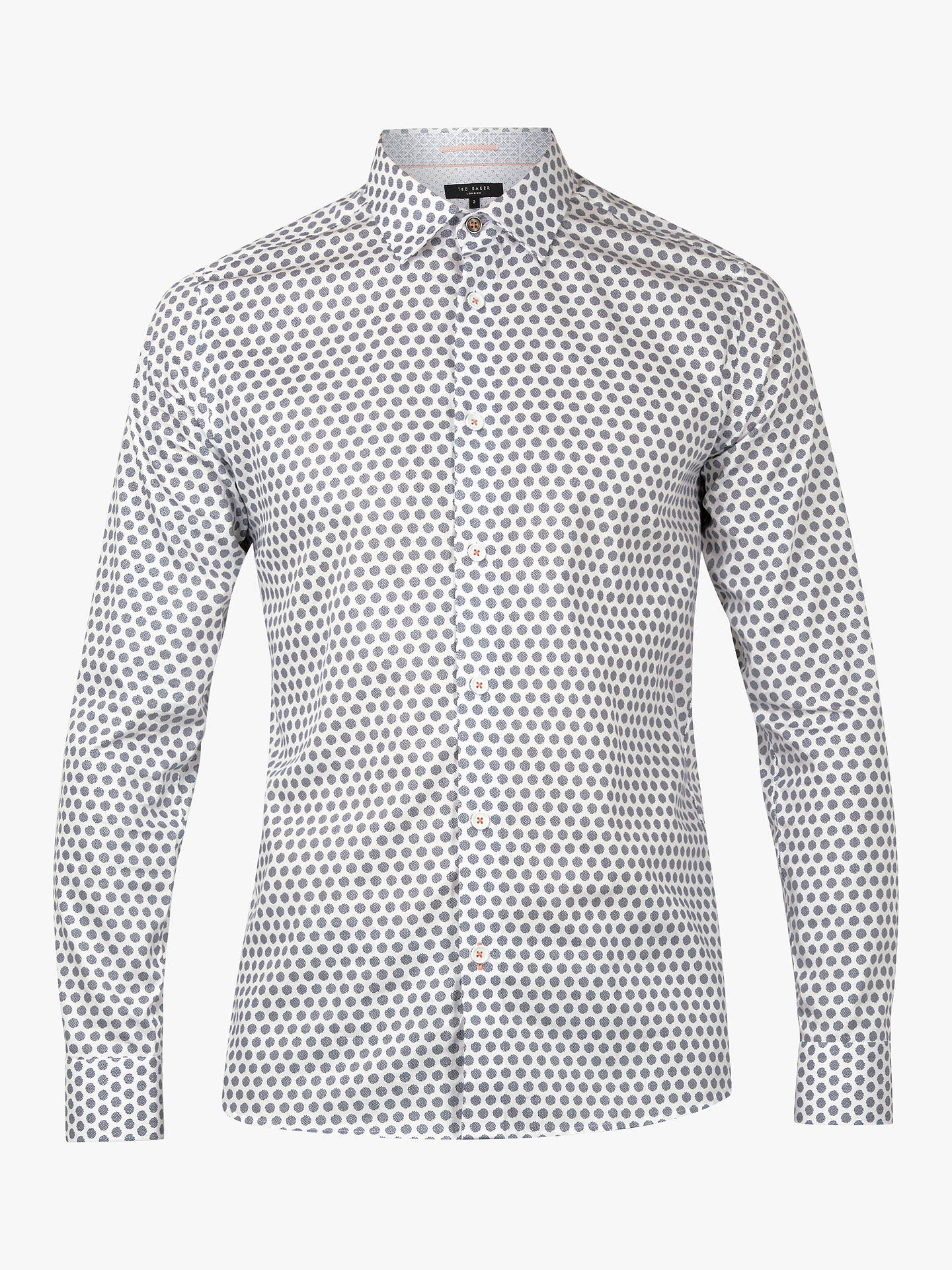 BuyTed Baker Camdent Printed Long Sleeve Shirt, White, 16 Online at johnlewis.com