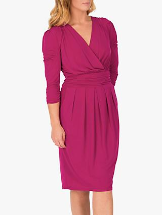 Jolie Moi 3/4 Sleeve Wrap Front Dress