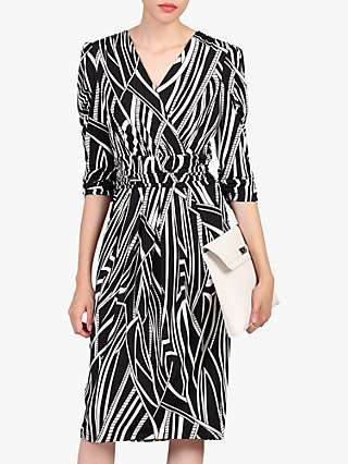 Jolie Moi Print Wrap Midi Dress