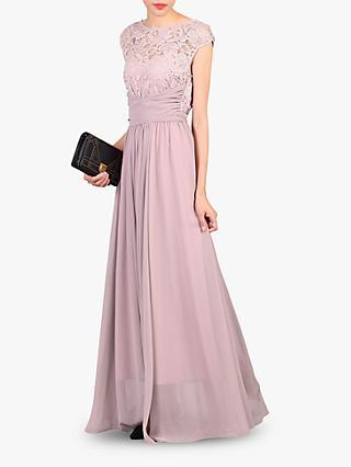 34ce7d8d34f7 Jolie Moi Lace Bodice Pleated Maxi Dress