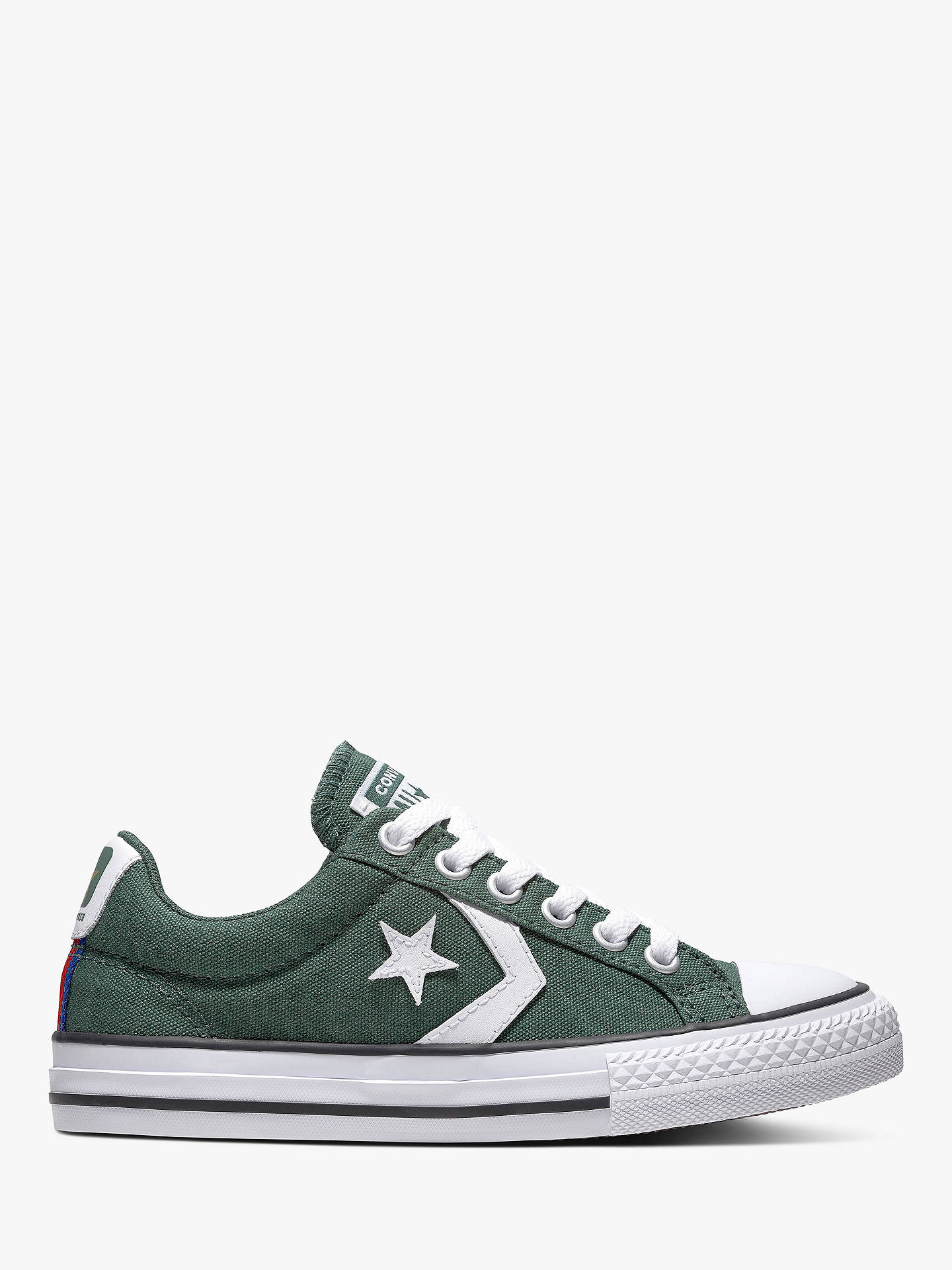 Finito expedido Dar  Converse Children's Star Player Trainers, Green at John Lewis & Partners