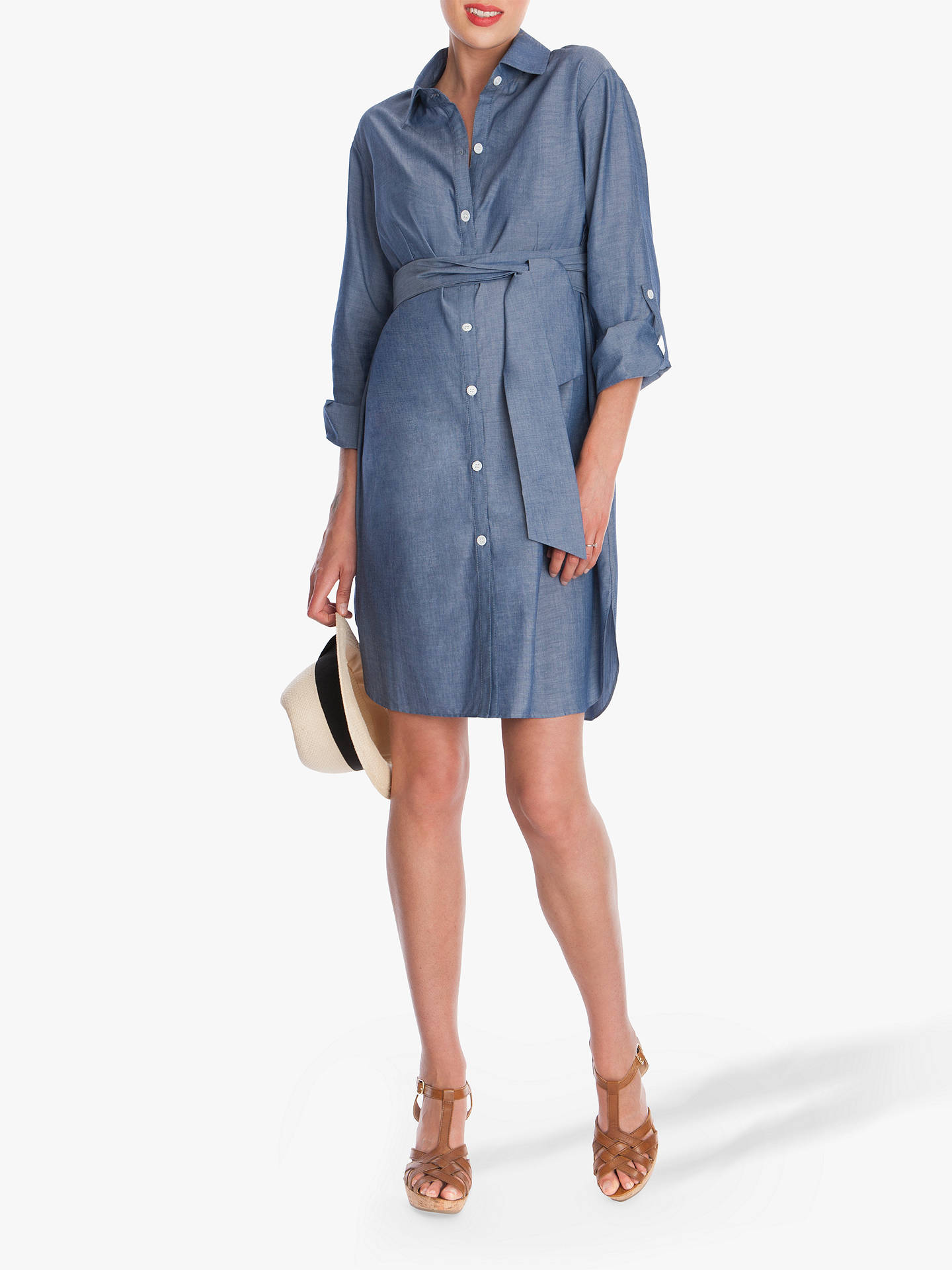 cea2d475a36aa Buy Séraphine Abalina Shirt Denim Maternity Dress, Blue, 10 Online at  johnlewis.com ...