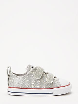 f6439057ed Converse Children's All Star 2V Glitter Riptape Trainers