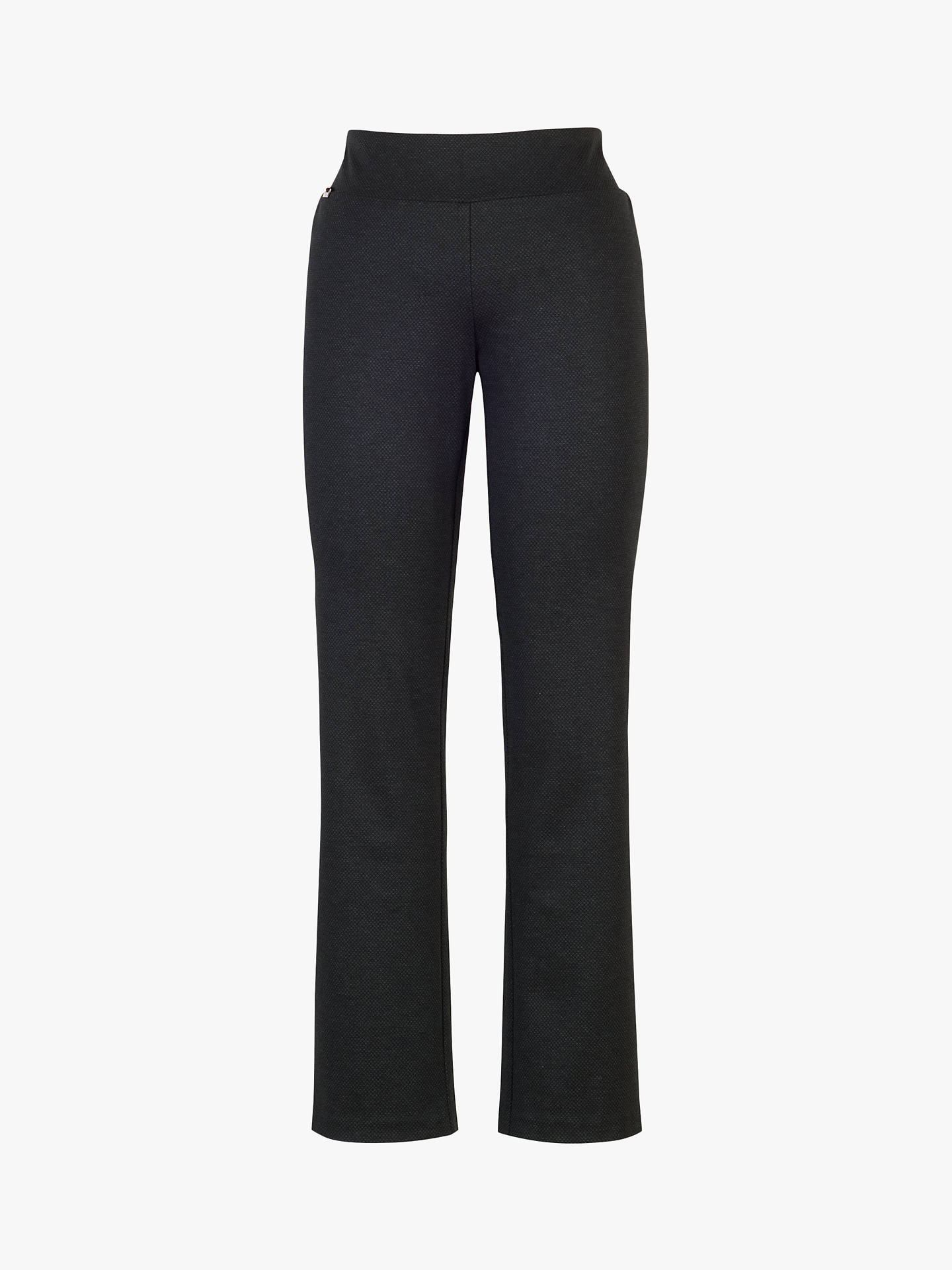 BuyChesca Diamond Check Trousers, Black/Charcoal, 14 Online at johnlewis.com