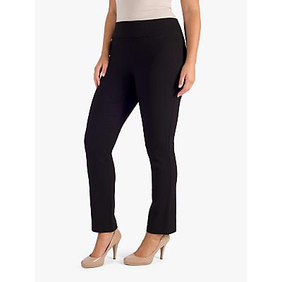Chesca Black Jacquard Tailored Trousers, Black