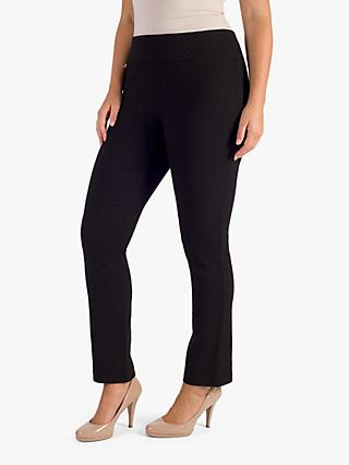Chesca Black Jacquard Tailored Trousers, Black