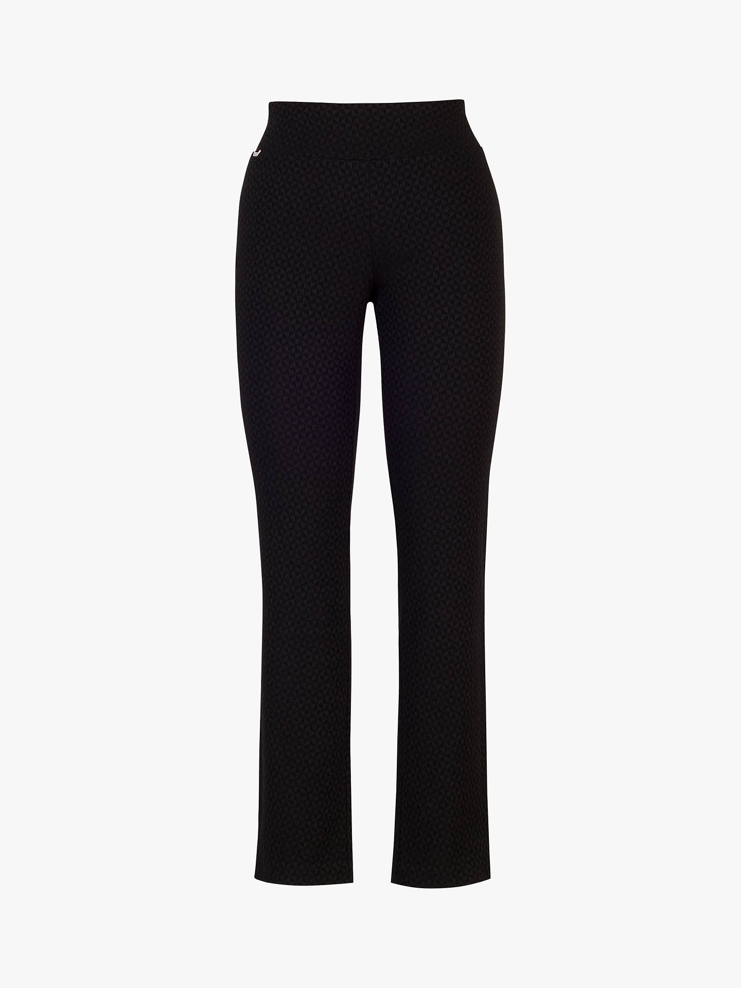 BuyChesca Black Jacquard Tailored Trousers, Black, 12 Online at johnlewis.com