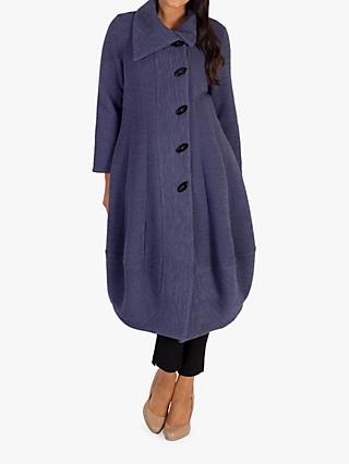 Chesca Wrap Collar Button Coat, Hyacinth