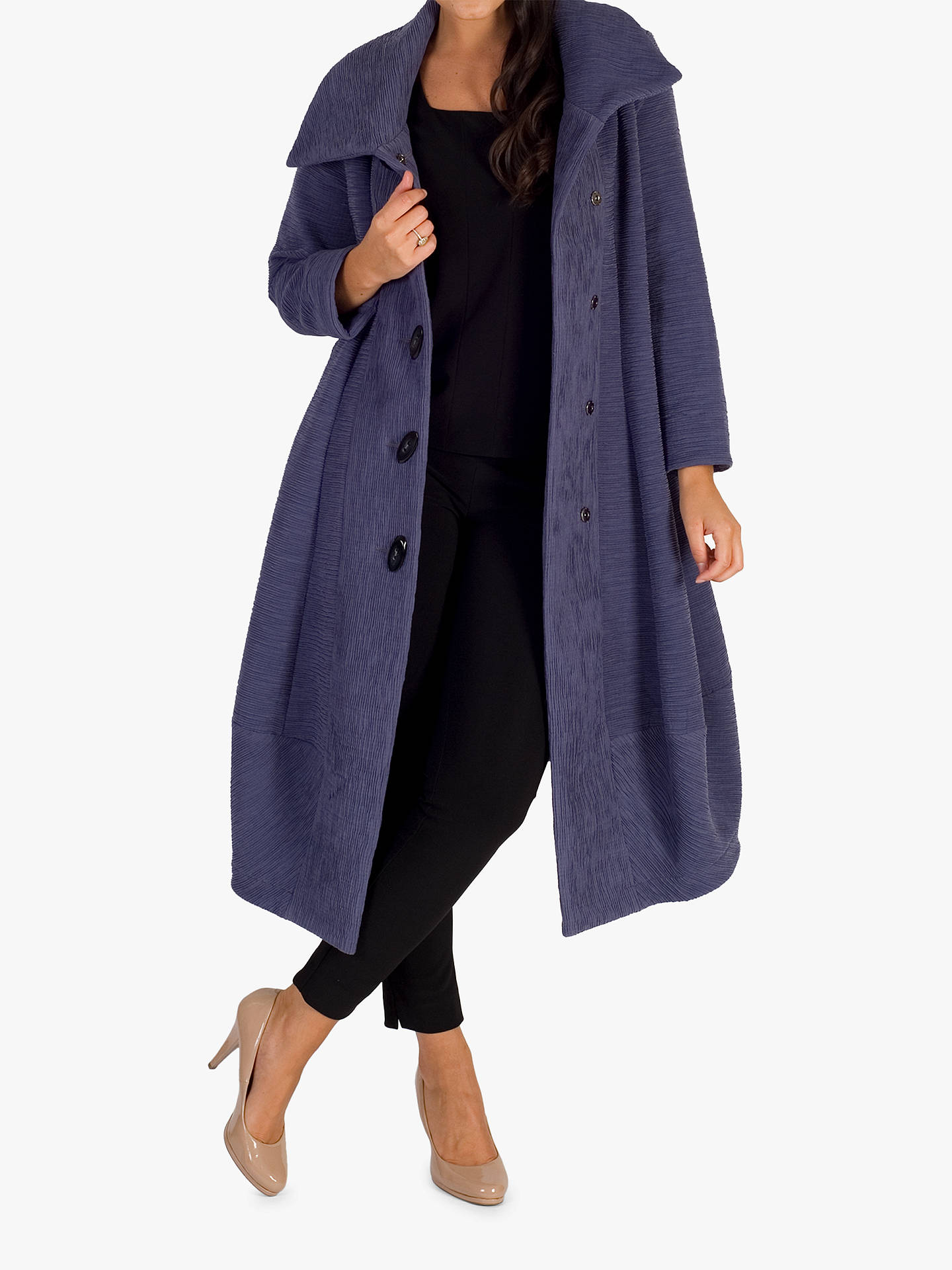 Buy Chesca Wrap Collar Button Coat, Hyacinth, 12-14 Online at johnlewis.com