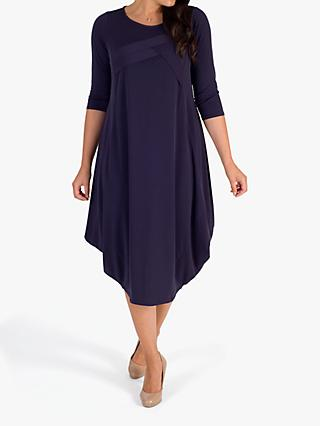 Chesca Tuck Detail Dress, Grape