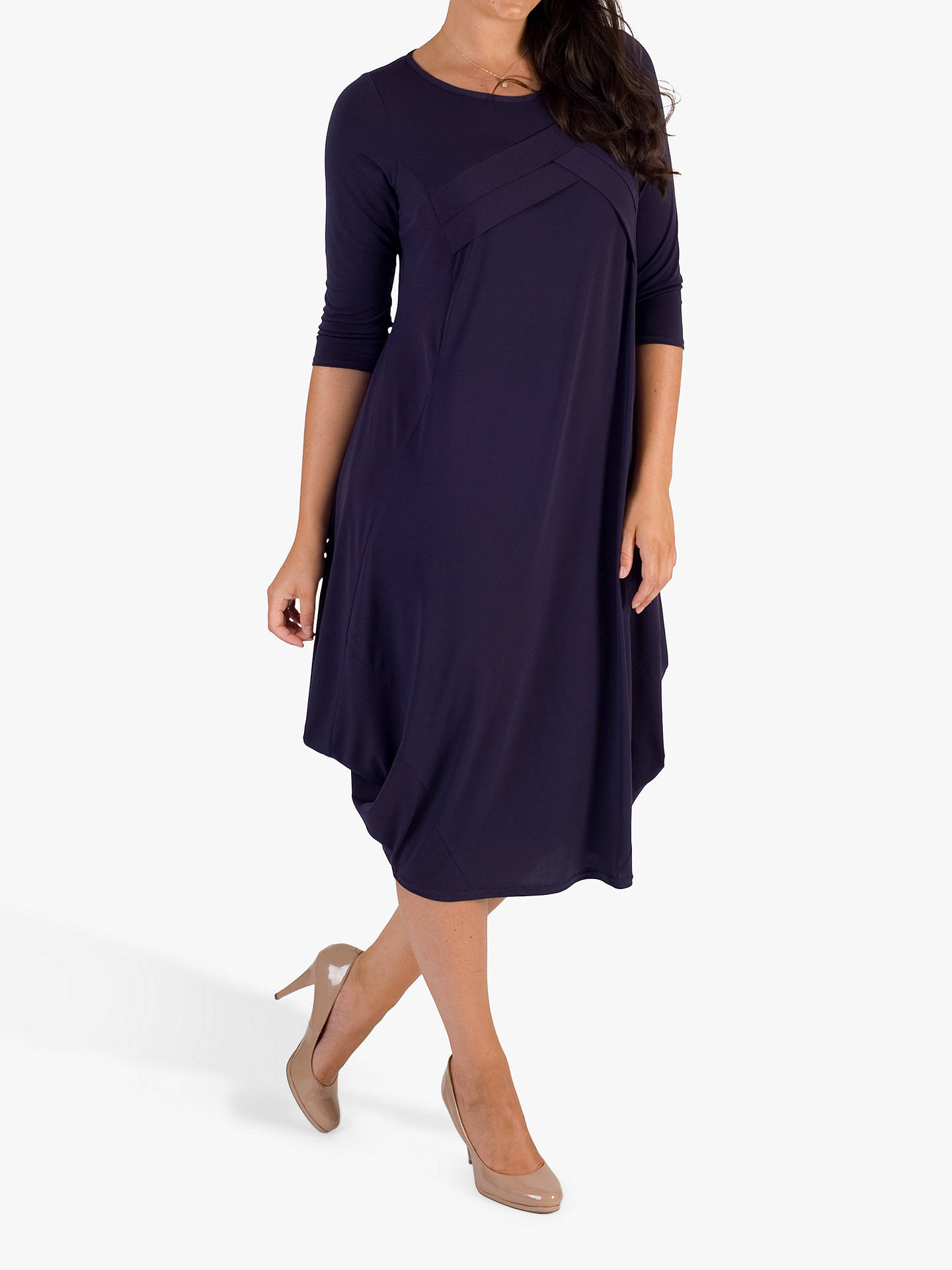 BuyChesca Tuck Detail Dress, Grape, 12-14 Online at johnlewis.com