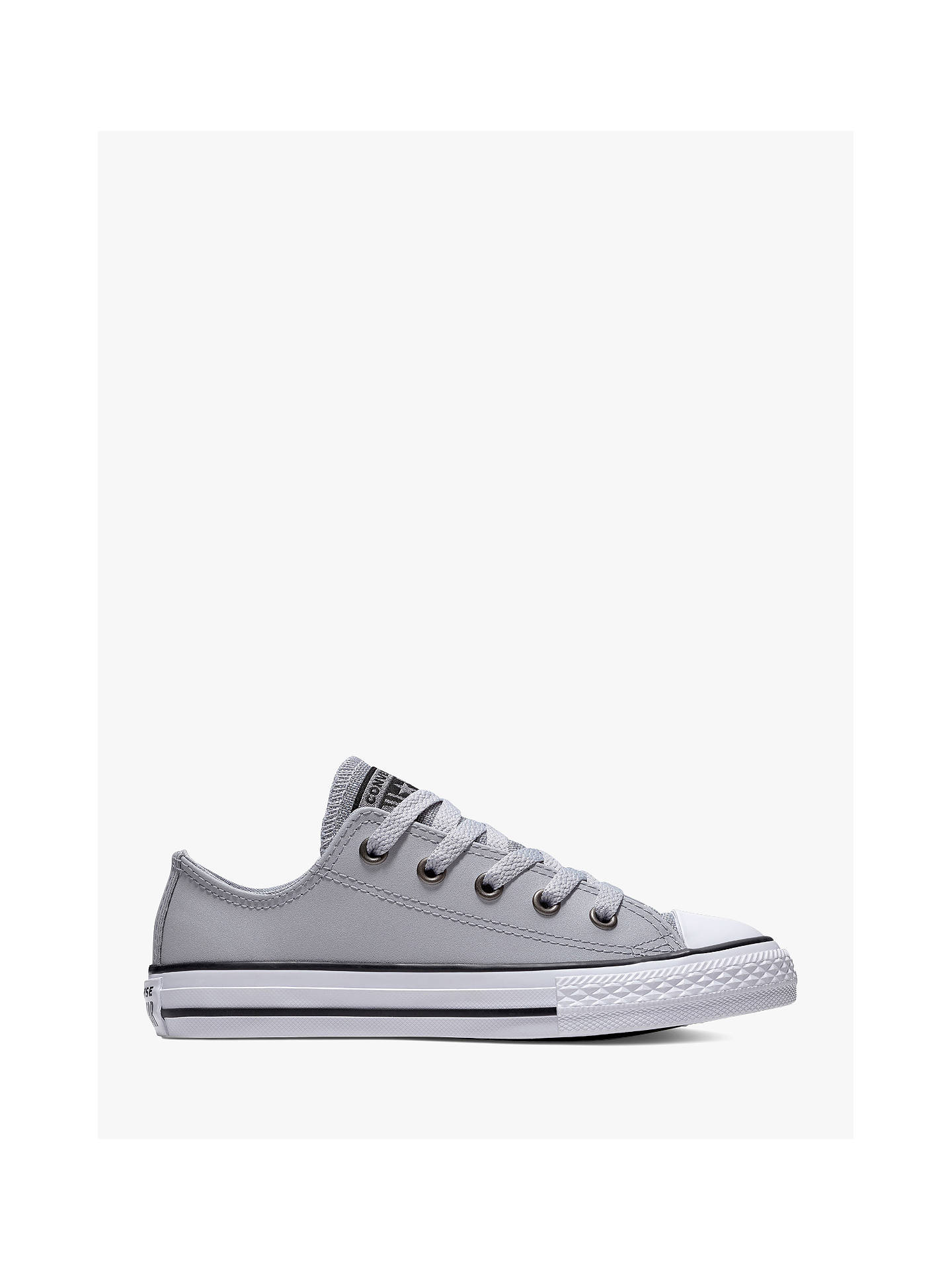 brand new 19f36 2b5b8 Buy Converse Children s Chuck Taylor All Star Ox Glitter Trainers, Silver,  10 Jnr Online ...