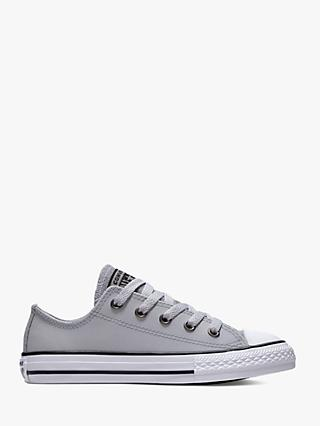Converse Children's Chuck Taylor All Star Ox Glitter Trainers, Silver