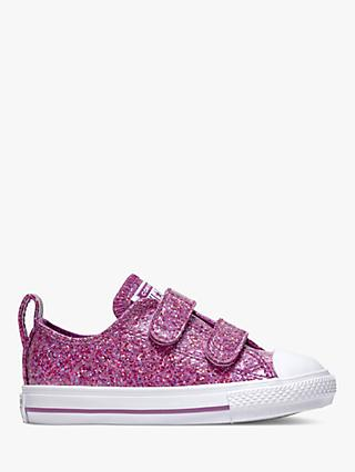 f57d30366b99 Converse Children s All Star 2V Glitter Riptape Trainers