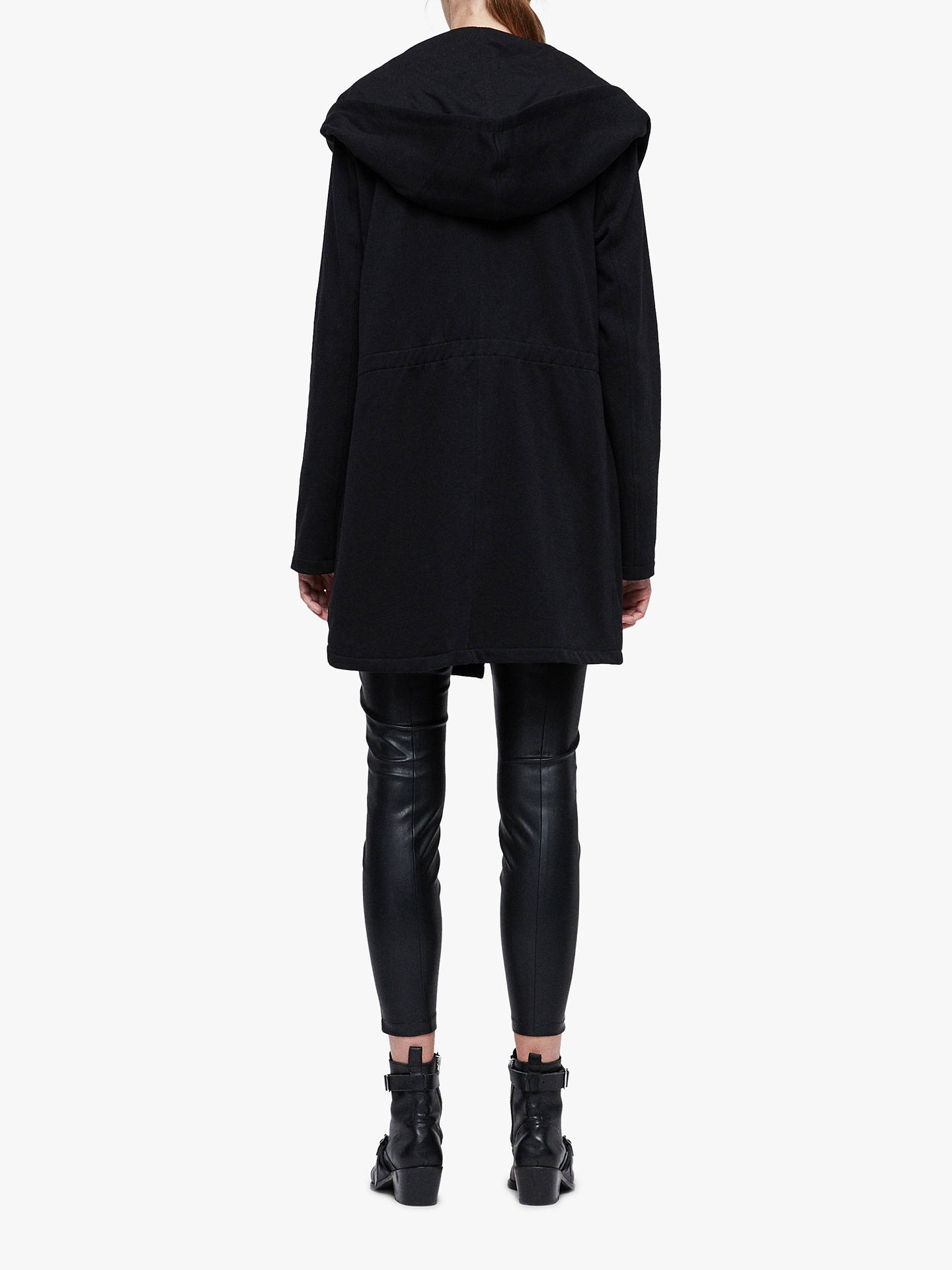 Buy AllSaints Navarre Asymmetric Jacket, Black, L Online at johnlewis.com