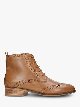 Buy Carvela Toby Lace Up Brogue Ankle Boots, Tan Leather, 5 Online at johnlewis.com