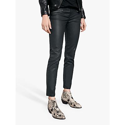hush Coated Jeans, Black