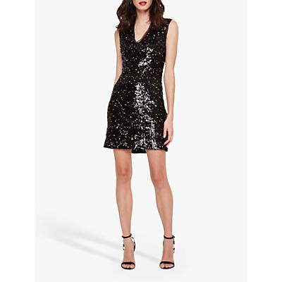 Damsel in a Dress Albanie Neon Sequin Dress, Black/Multi
