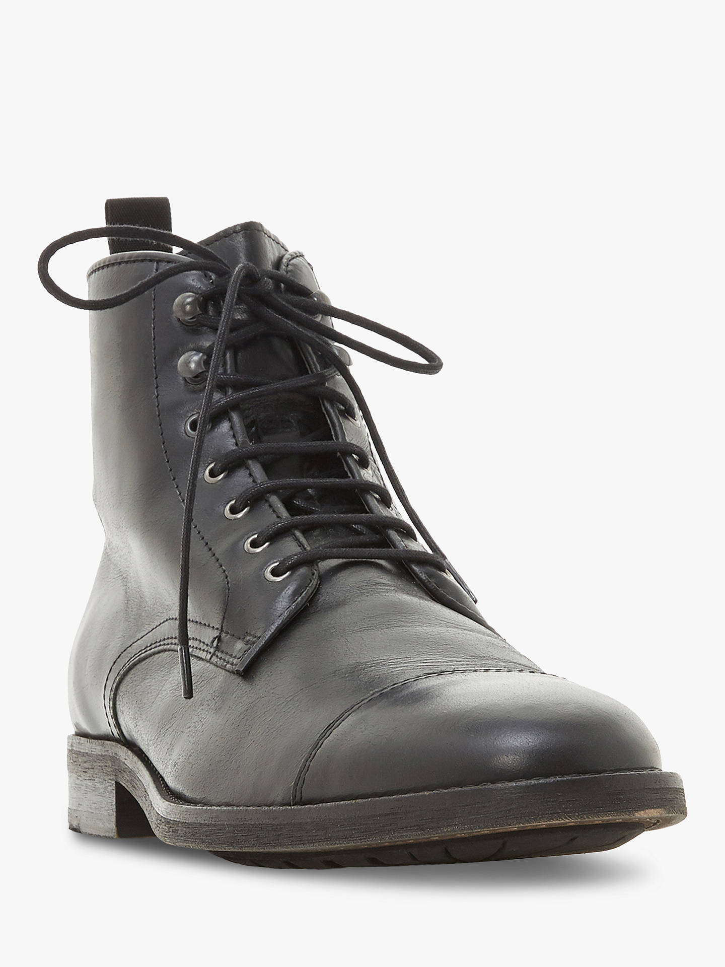 Buy Bertie Christchurch Worker Boots, Black, 6 Online at johnlewis.com