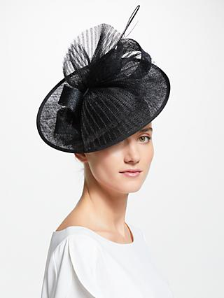 John Lewis & Partners Anya Disc Occasion Hat, Black
