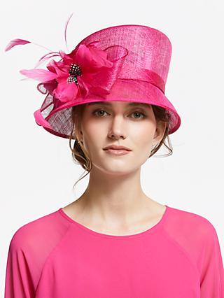 791ef5018f4013 John Lewis & Partners Irene Floral Feather Occasion Hat