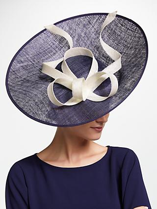 John Lewis & Partners Liv Up Turn Swirl Disc Occasion Hat, Navy