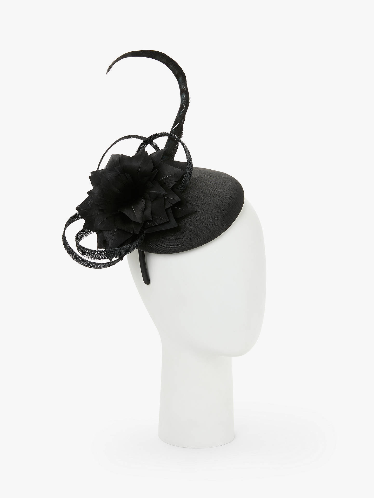 b460ed2de3f40 John Lewis   Partners Gloria Pillbox Feather Fascinator at John ...