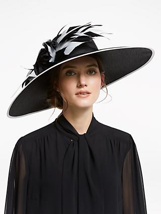 John Lewis   Partners Lulu Feather Trim Shantung Occasion Hat f88945086bff