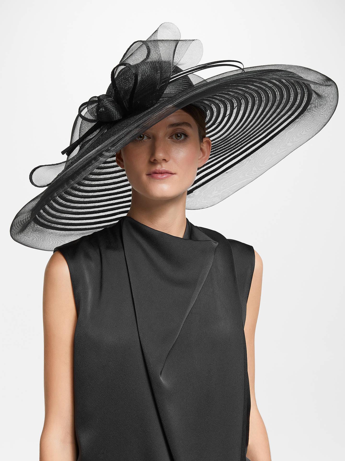 John Lewis   Partners Celia Swirl Down Brim Mesh Disc Occasion Hat ... 9a18c3c3409