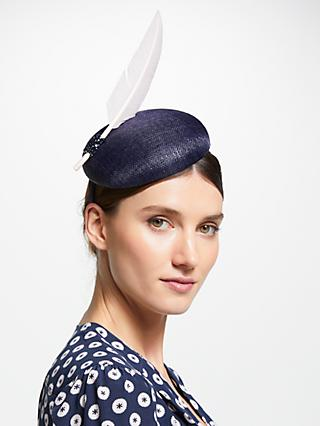 John Lewis & Partners Meghan Pillbox Single Feather Fascinator