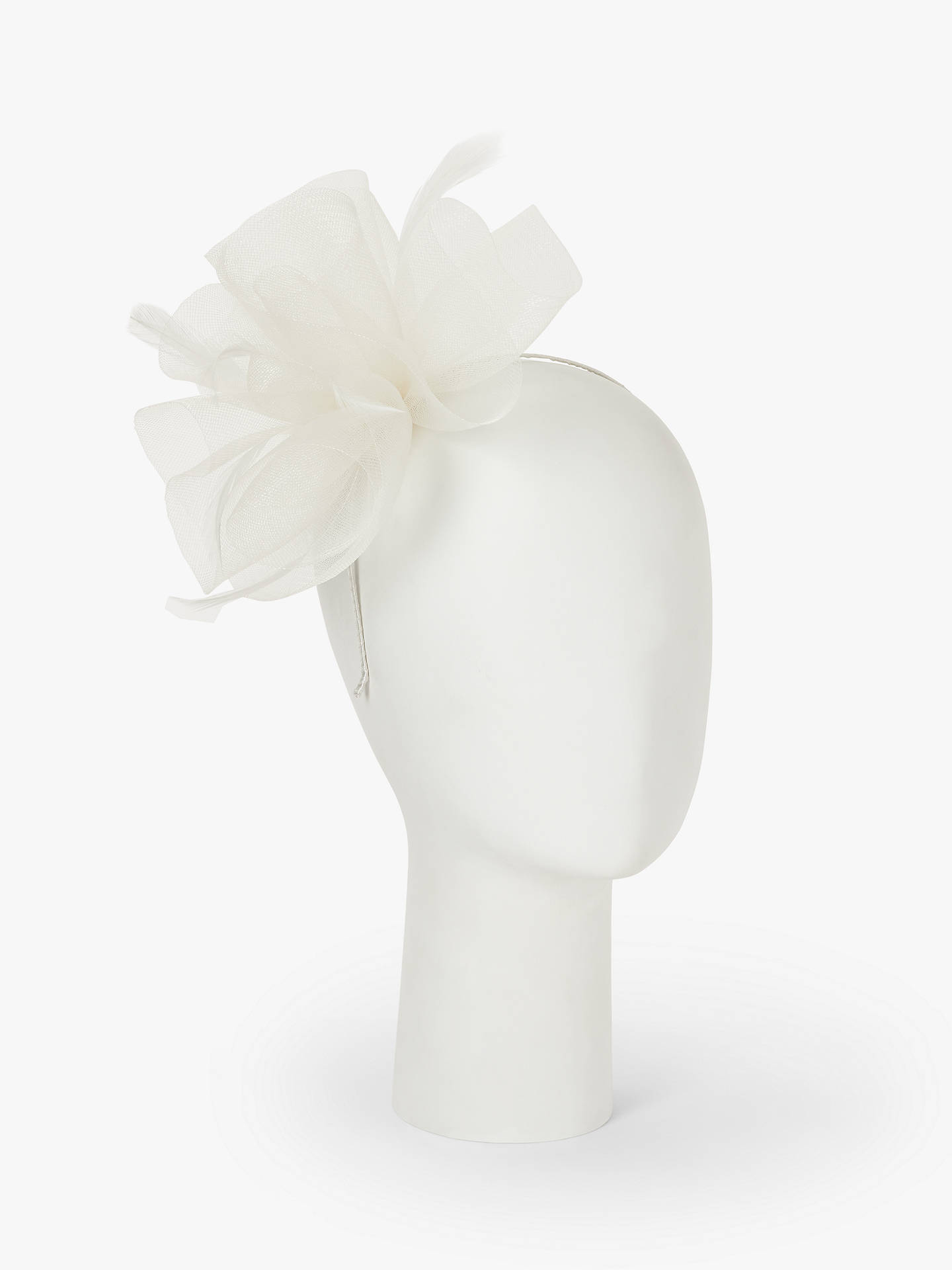 bd3cf81f ... Buy John Lewis & Partners Amelia Bow Fascinator, Off White, One Size  Online at ...