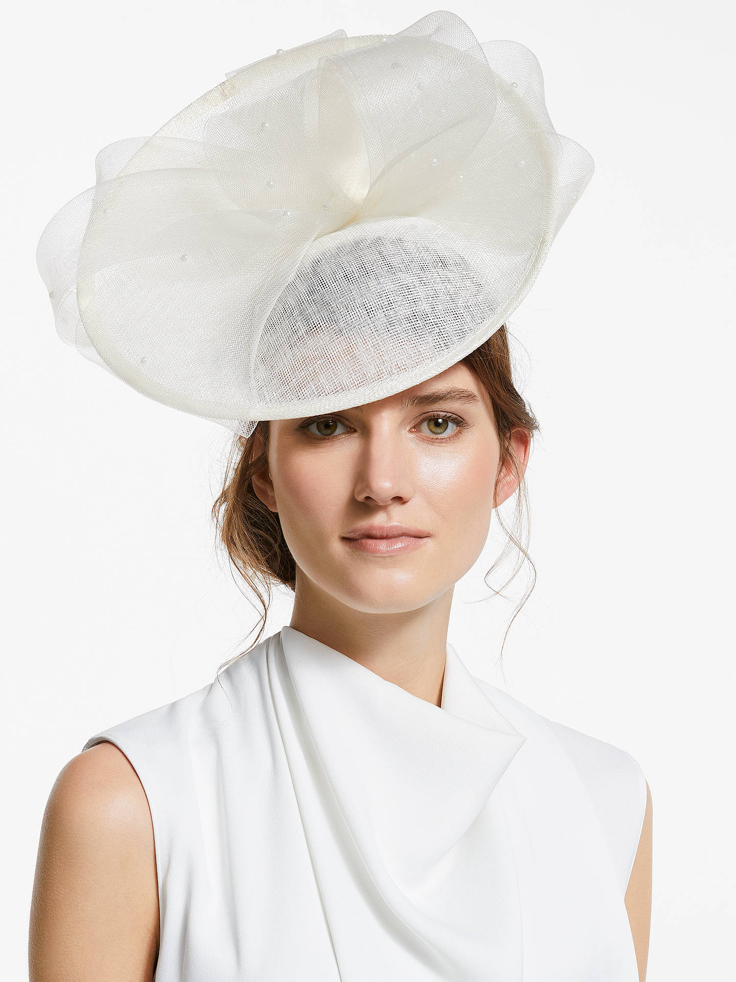 315240946e587 Buy John Lewis   Partners Pearl Bow Up Turn Disc Occasion Hat