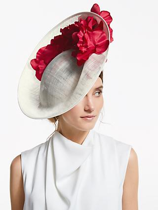 7845fbaf0c John Lewis   Partners Zita Flower Detail Side Up Disc Occasion Hat