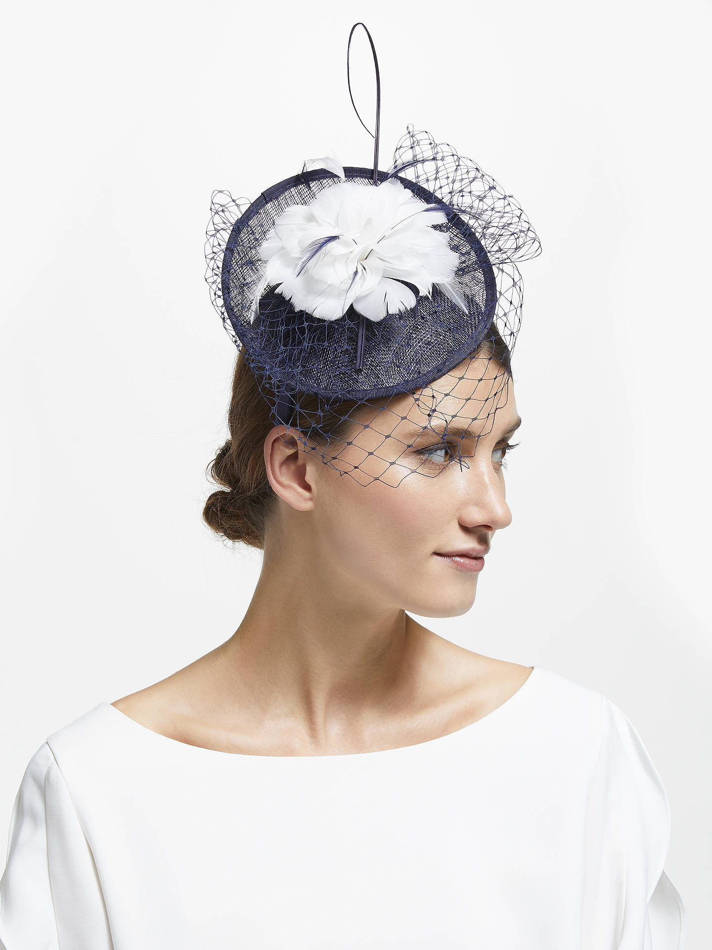 BuyJohn Lewis   Partners Camille Disc Feather Veil Fascinator f1047fad832