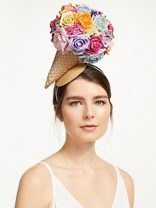 18e1f970 Bundle MacLaren Millinery Statement Blossom Ice Cream Cone Fascinator