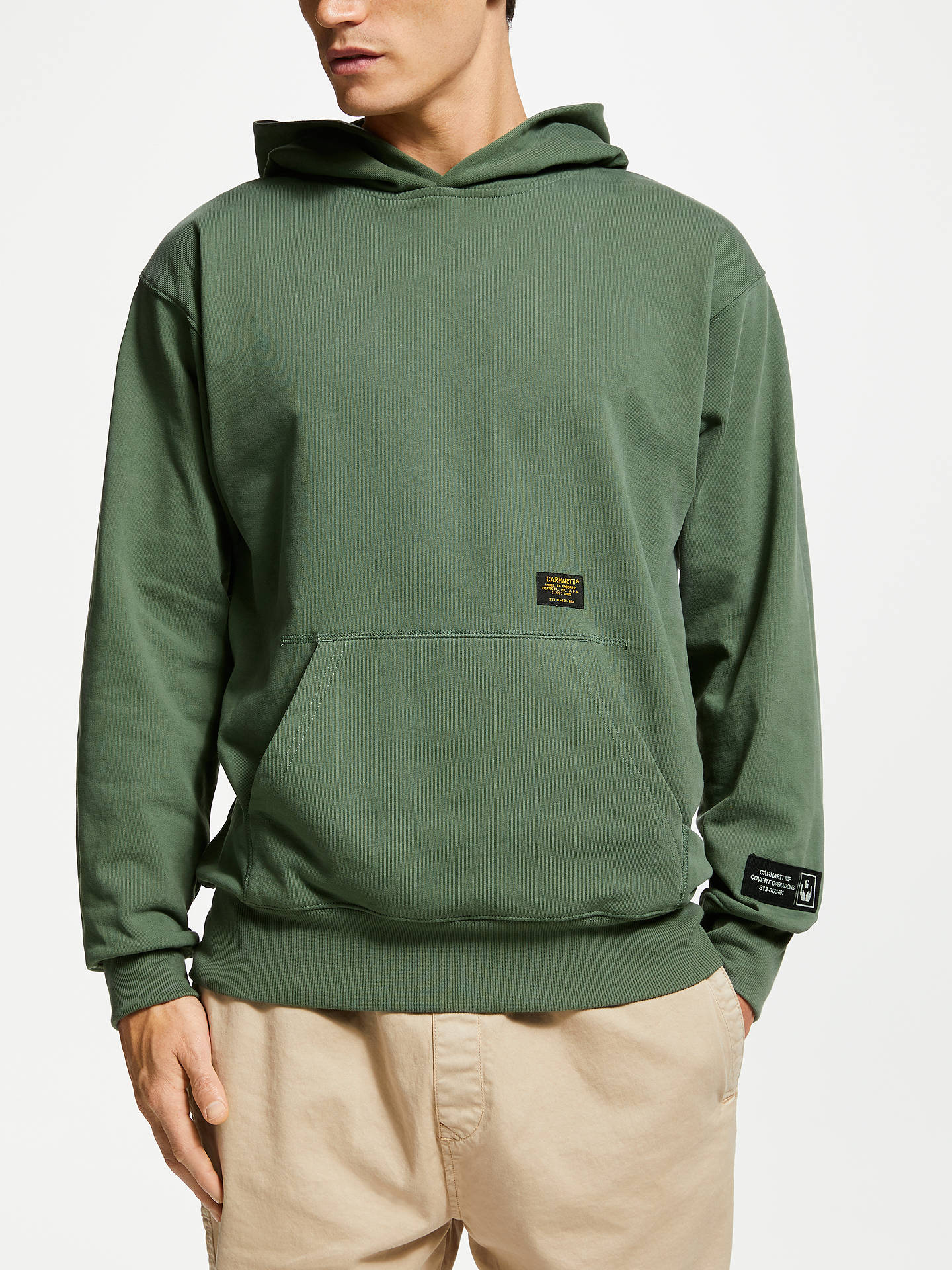 low priced 38fd1 a13d7 Carhartt WIP Hooded Military Tape Sweatshirt, Adventure at ...